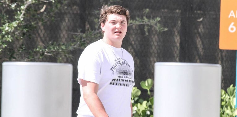 2021 OL Weston Franklin all smiles after landing Michigan offer