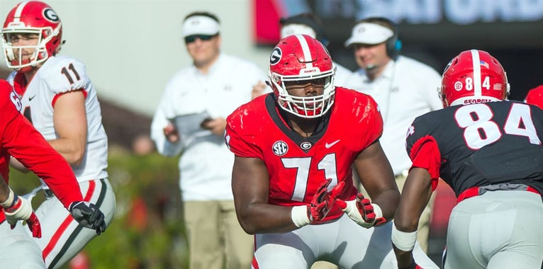 Andrew Thomas grades himself out, assesses OL depth