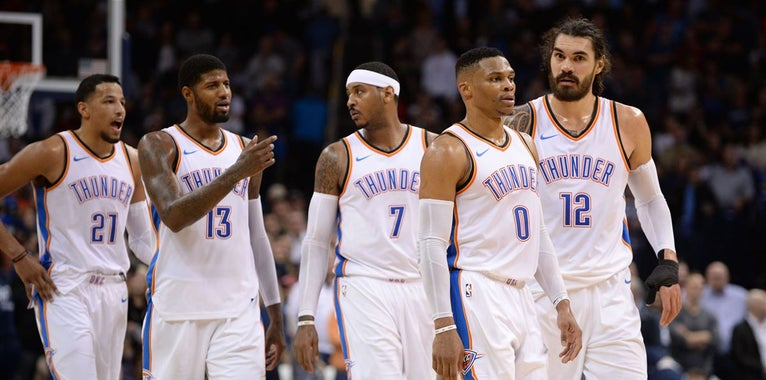 Thunder rule Westbrook and Anthony out against the Lakers