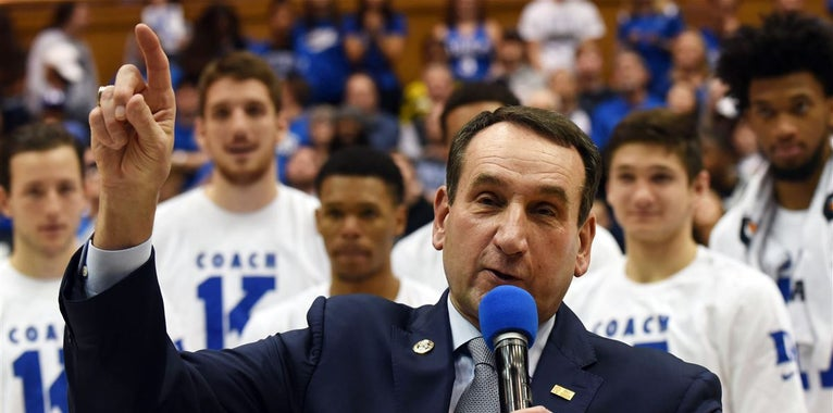 Coach K says he has no plans to retire